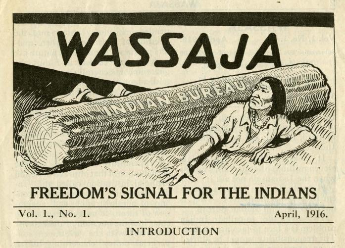 Wassaja Newsletter Volume 1 Artwork